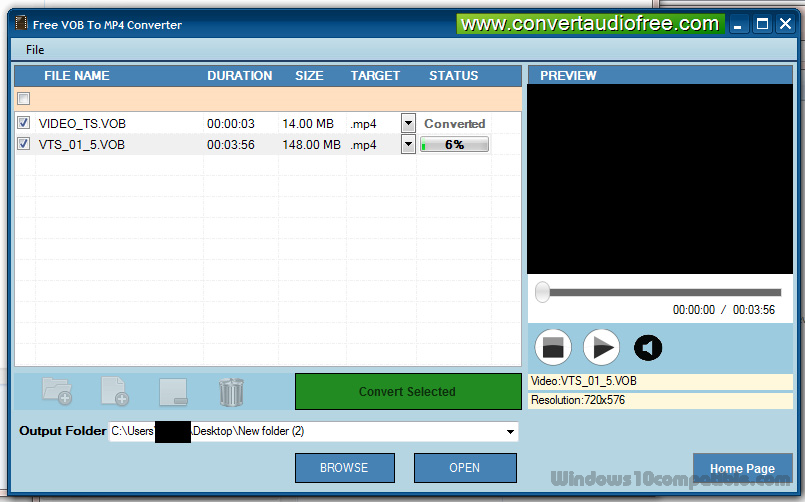 Free VOB to MP4 Converter Pro 1 0 Free download